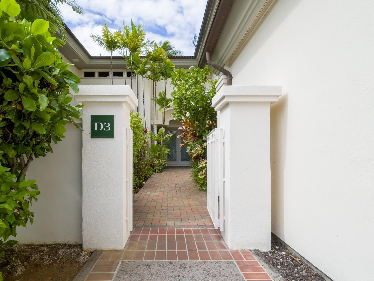 Front Entrance via Gated Courtyard