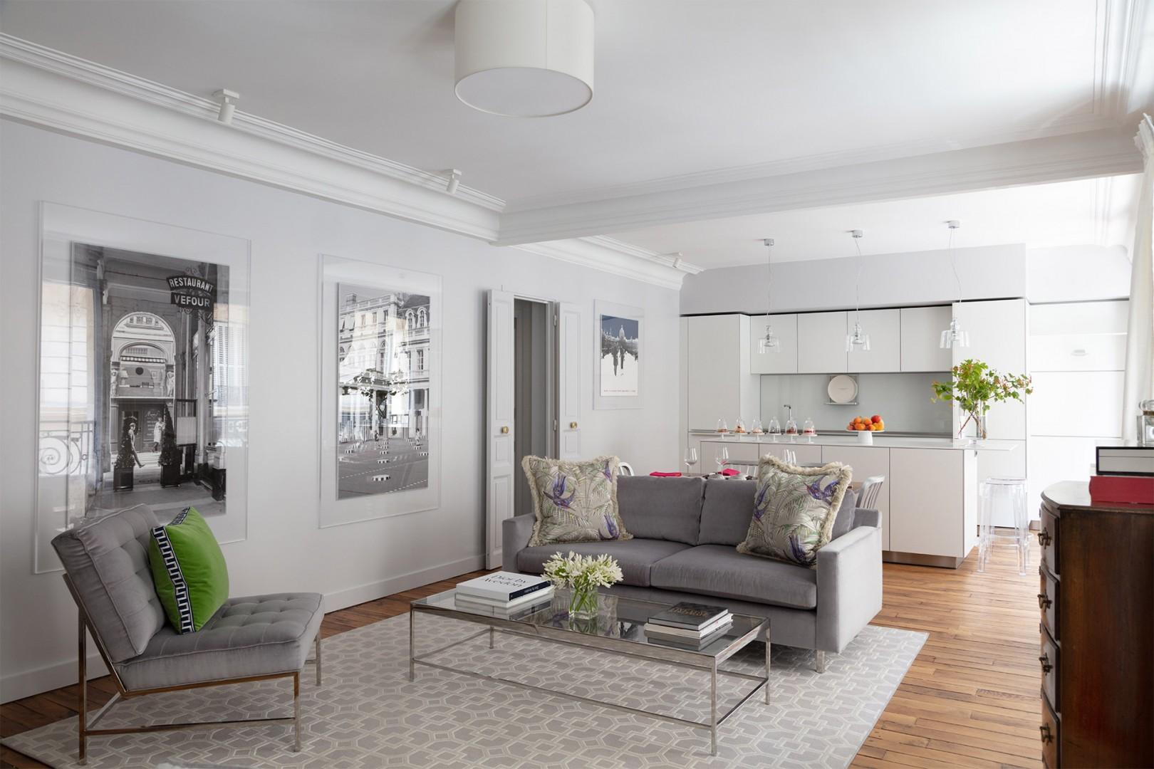 Relax in the comfortable seating area in the living room.