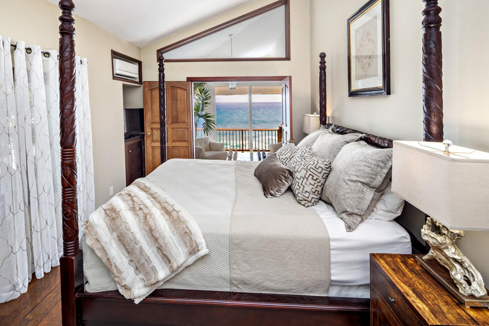 lower master suite with ocean views