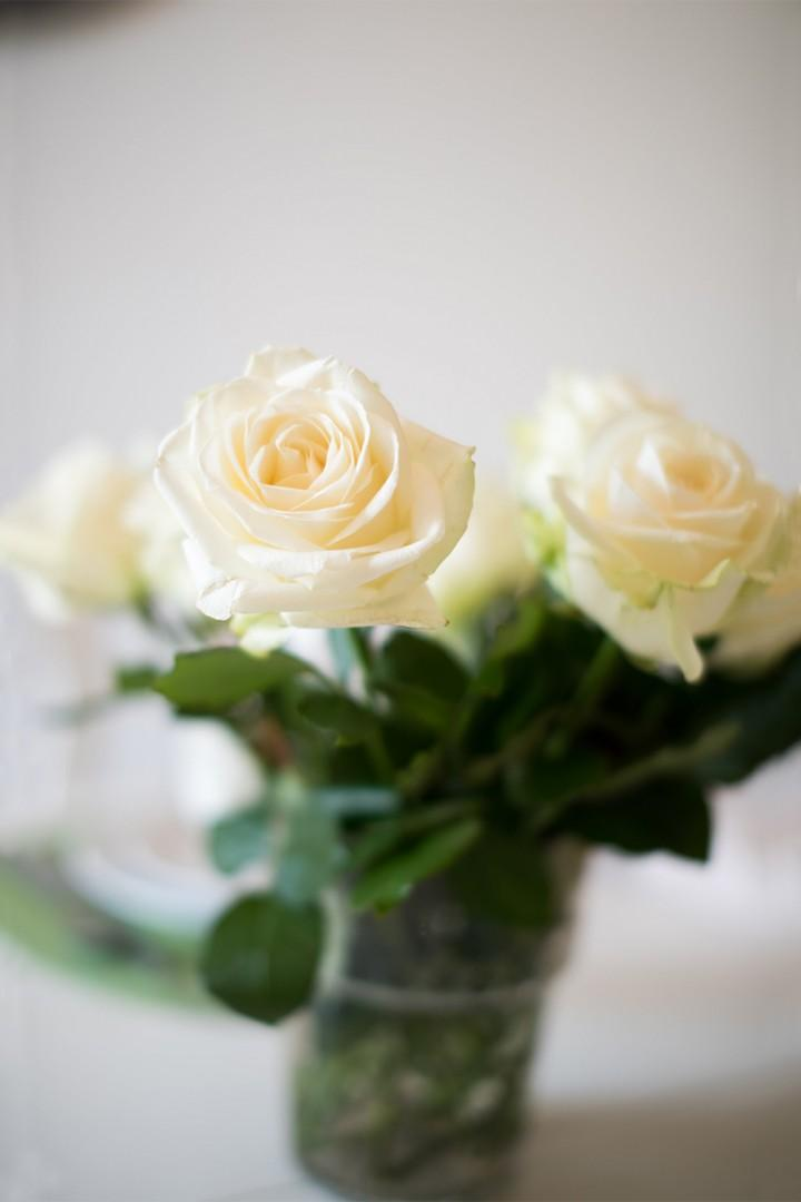 Get flowers from a local florist to decorate the space.