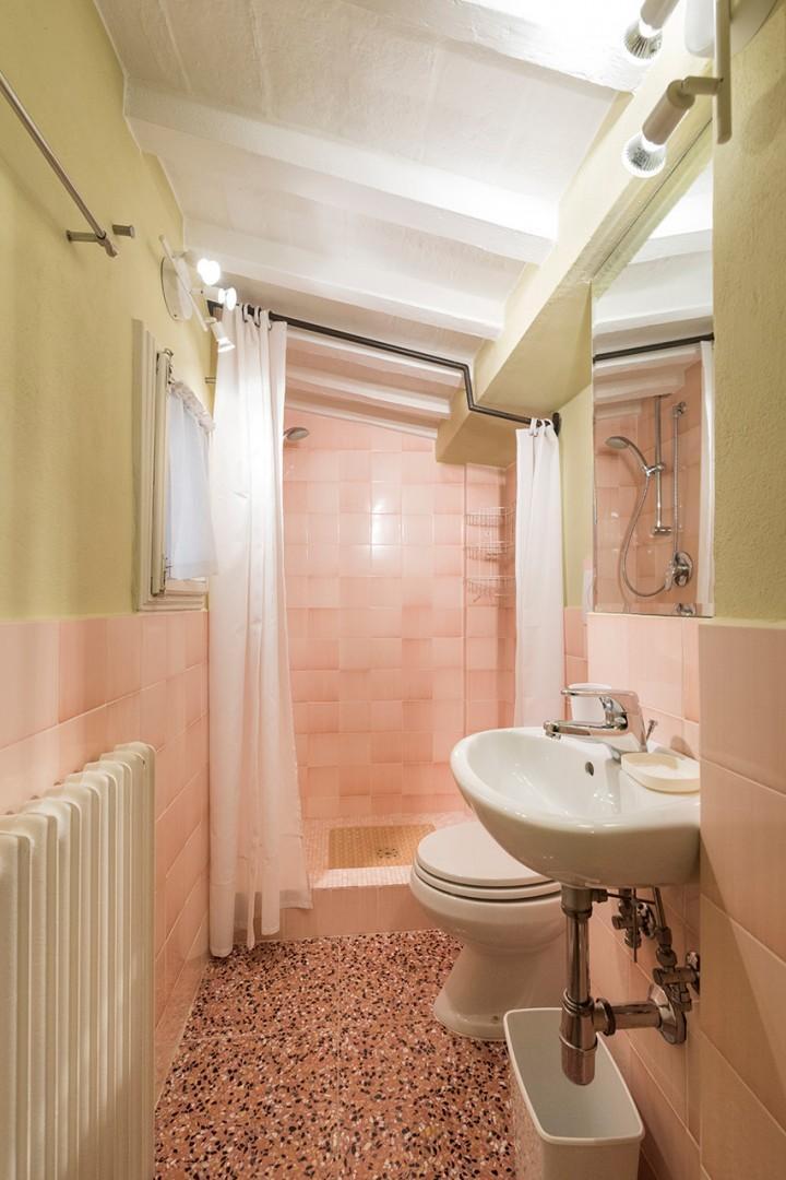 Bathroom 3 is en suite to bedroom 3. It has a shower, toilet and sink.
