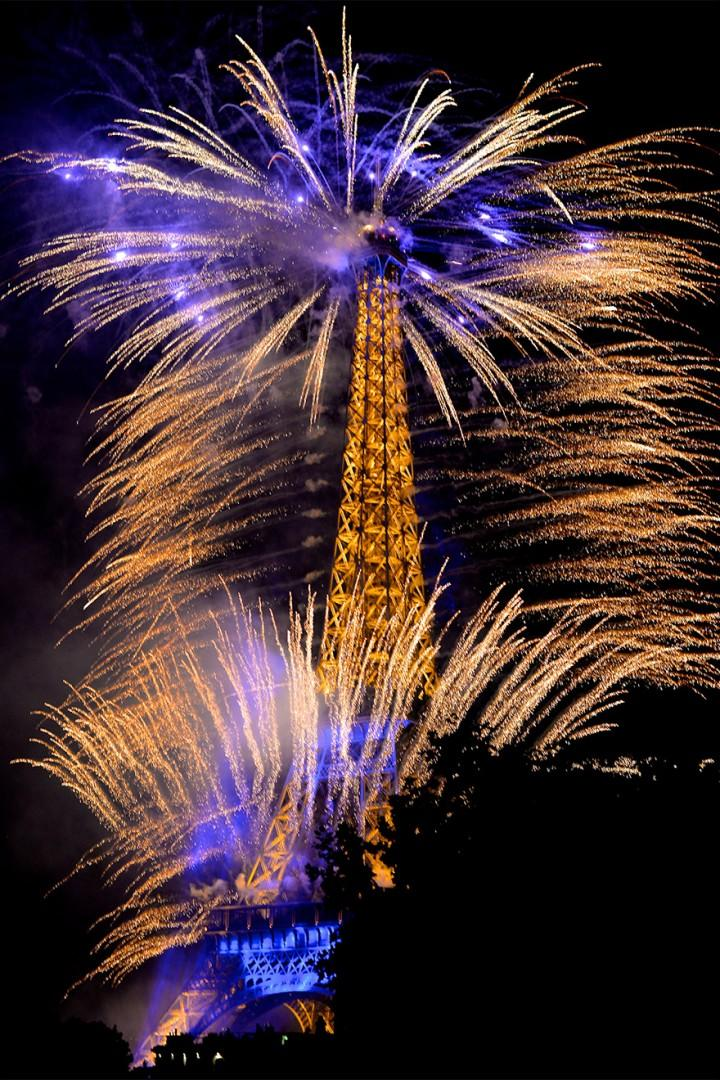 View from the balcony on Bastille Day
