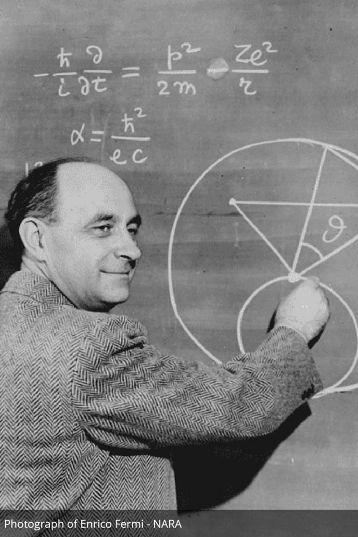 Photograph of Enrico Fermi