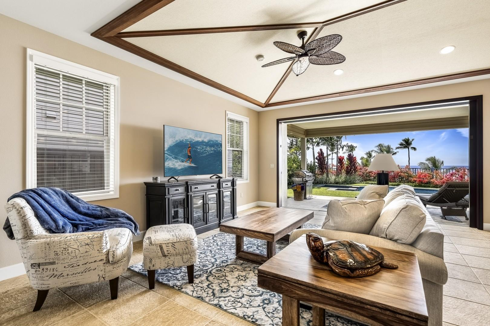 Spread out and relax in the spacious living room