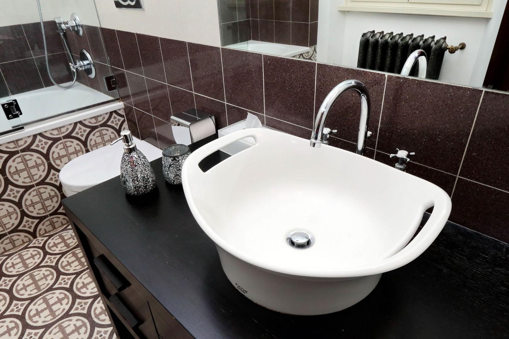 Detail of sink area in bathroom 2.