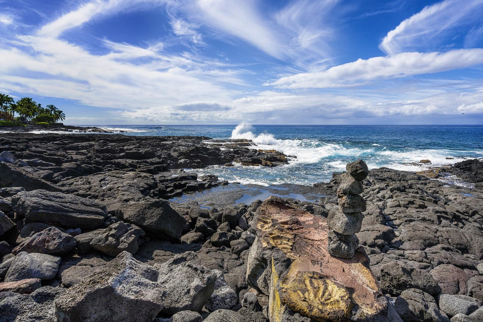 Oceanfront rock outcropping