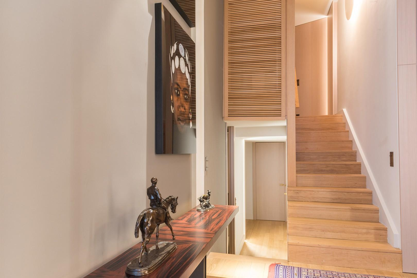 This spacious home is situated on three levels.
