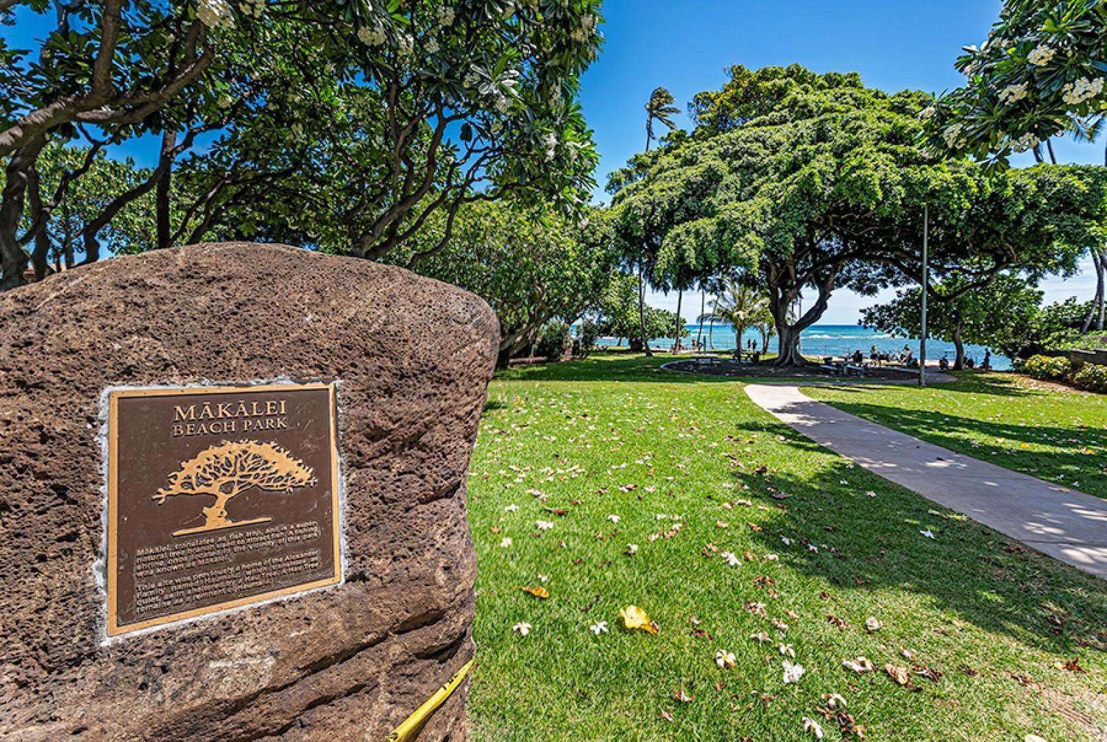 Walking distance to Makalei Beach Park