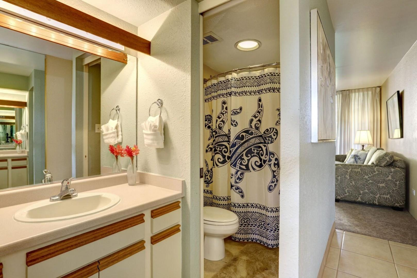 Bathroom with full size shower & tub
