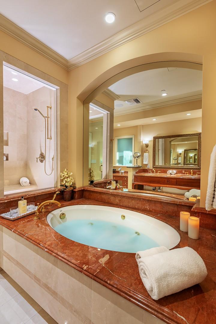 Master Bath with Jacuzzi Tub and Separate Steam Shower