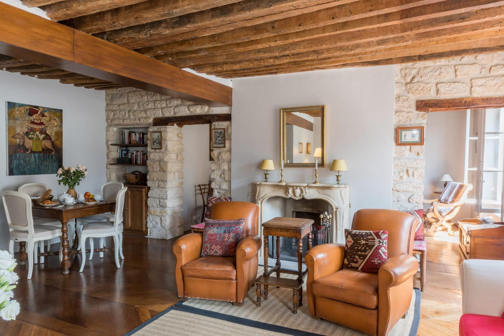 The décor at the Dolcetto perfectly complements the original stone walls.