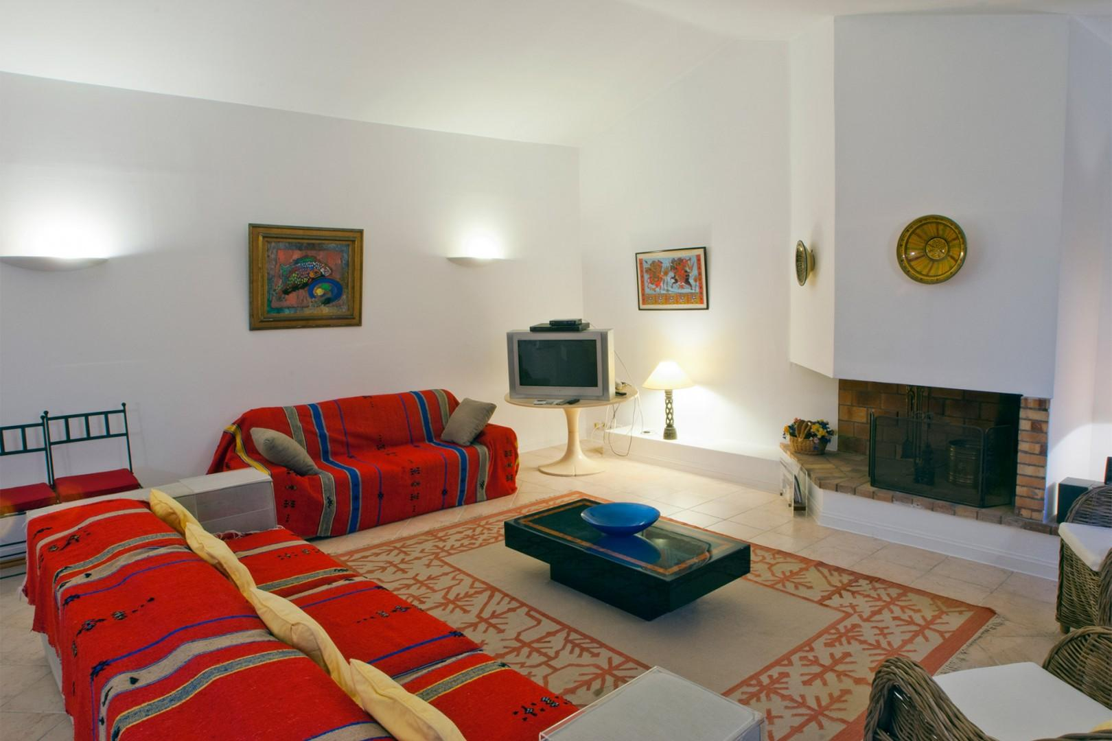 Warm and welcoming living room