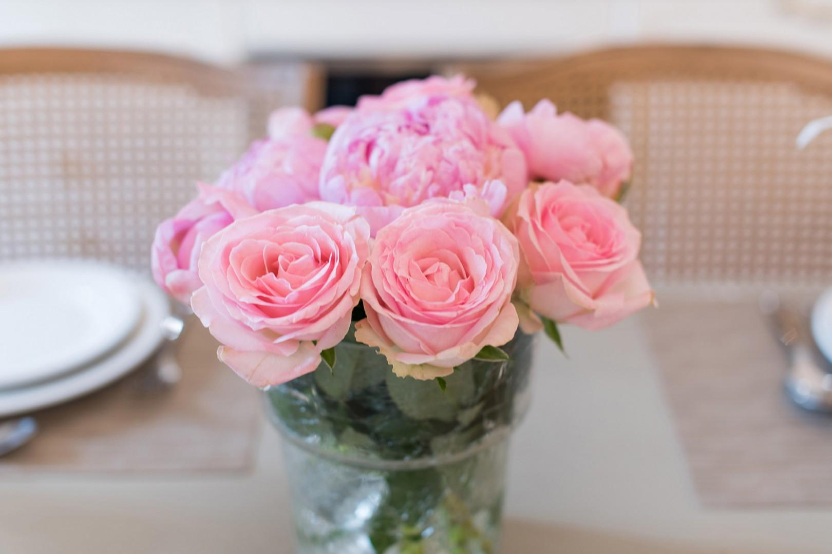 Pick up flowers from the nearby market to decorate your table.