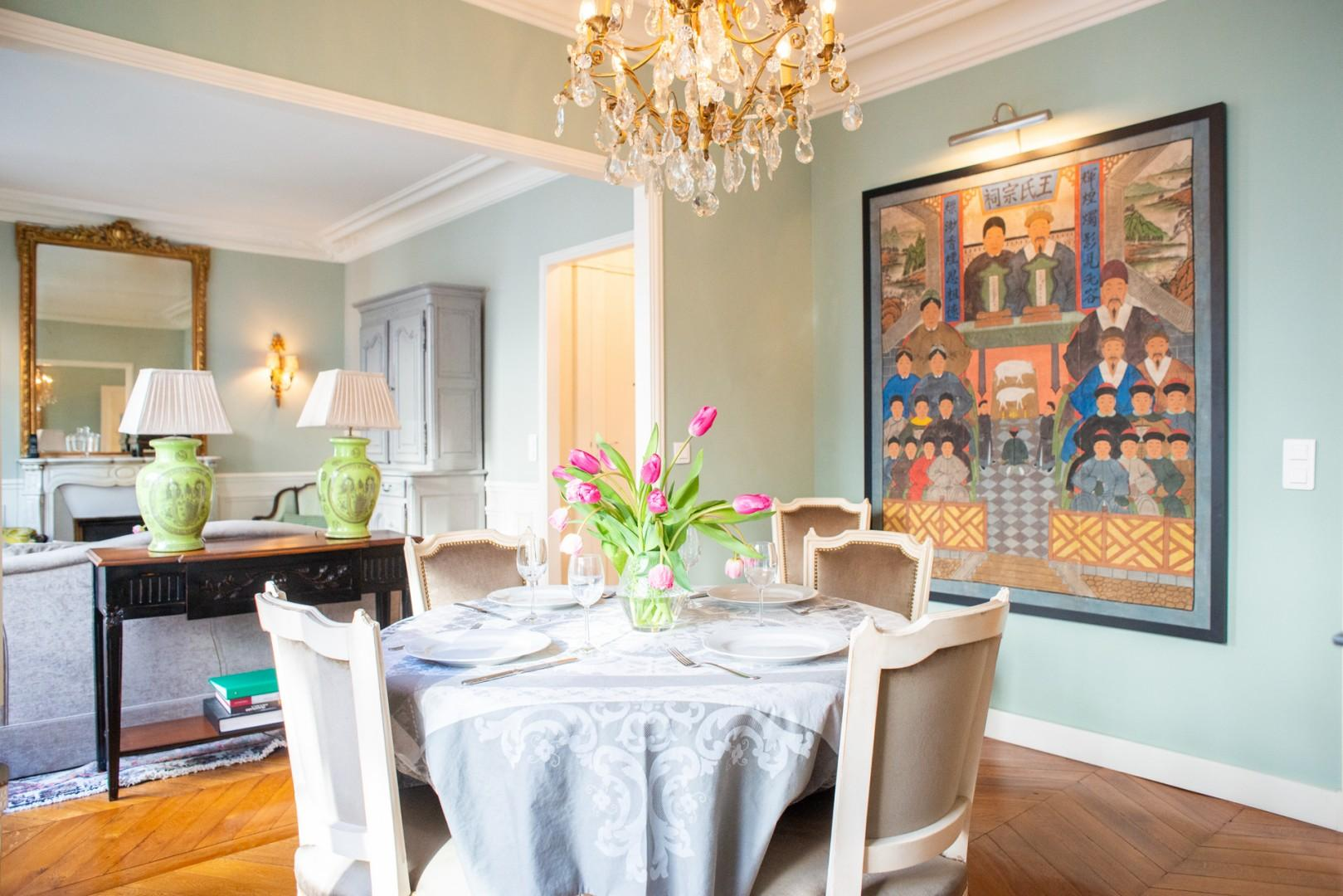 Entertain Paris-style in this beautiful dining room!