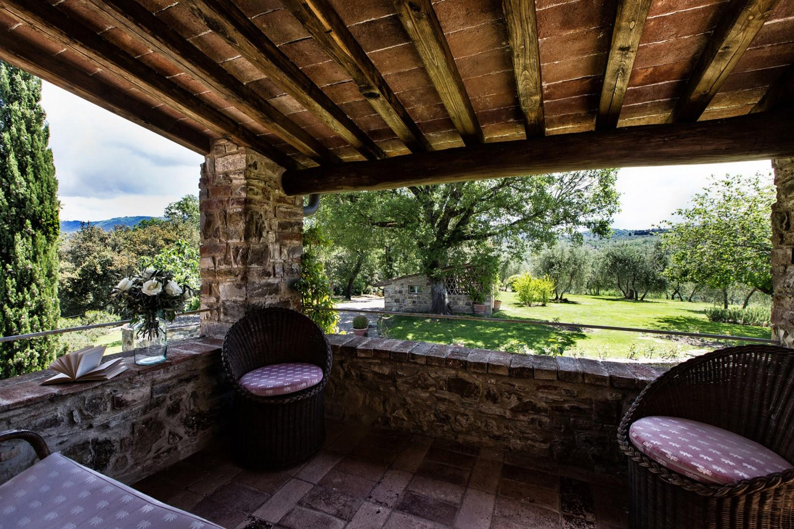 The cottage has its own terrace with patio furniture and nice views.