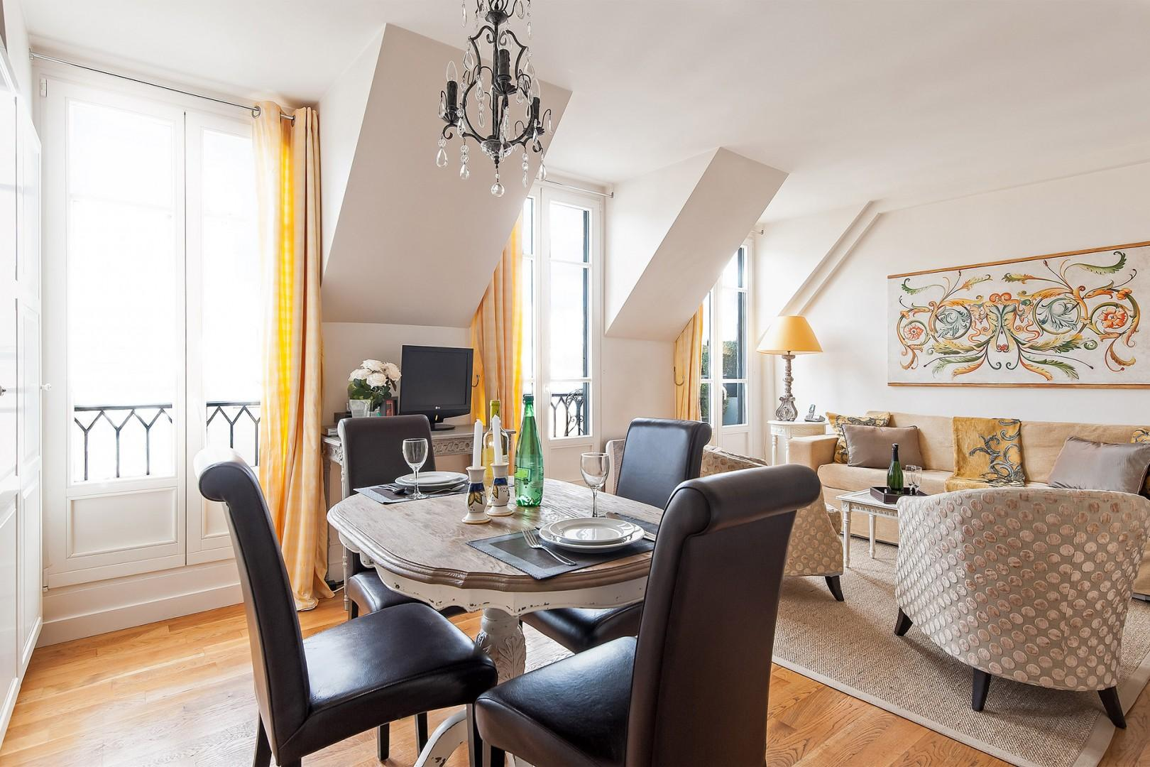 Enjoy the rental's open floorplan and airy feel.