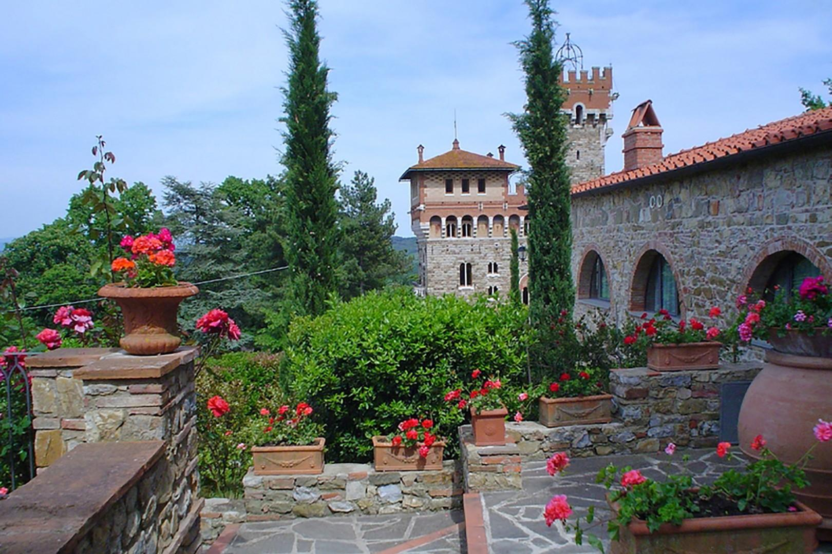 The castle is actually less than 200 years old, it was designed by the famous architect Coppede.