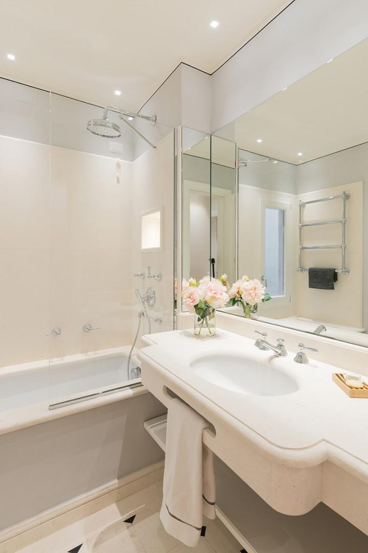 All bathrooms are of the highest quality with beautiful marble fixtures.