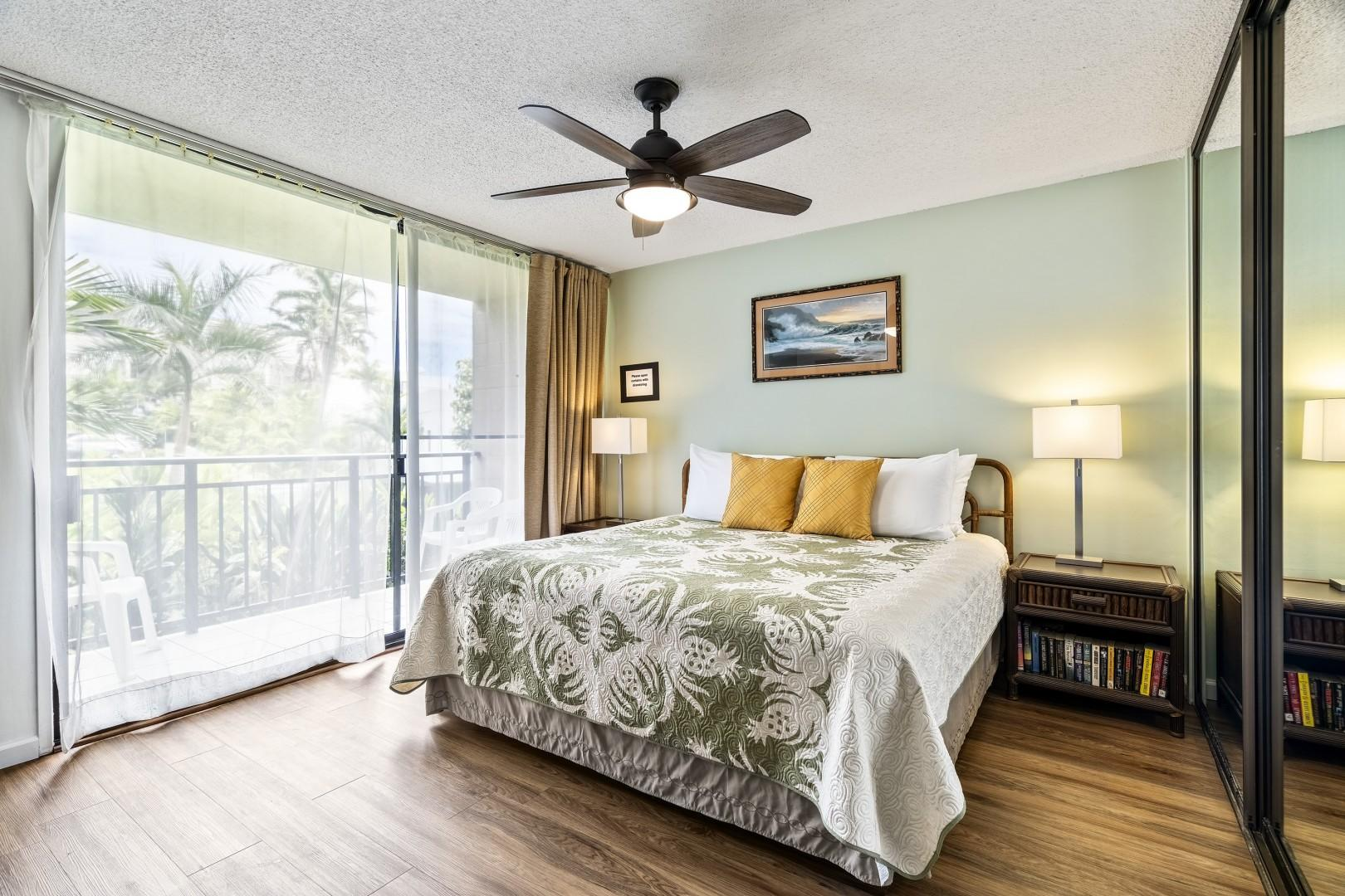 Tranquil, bedroom with A/C and smart TV