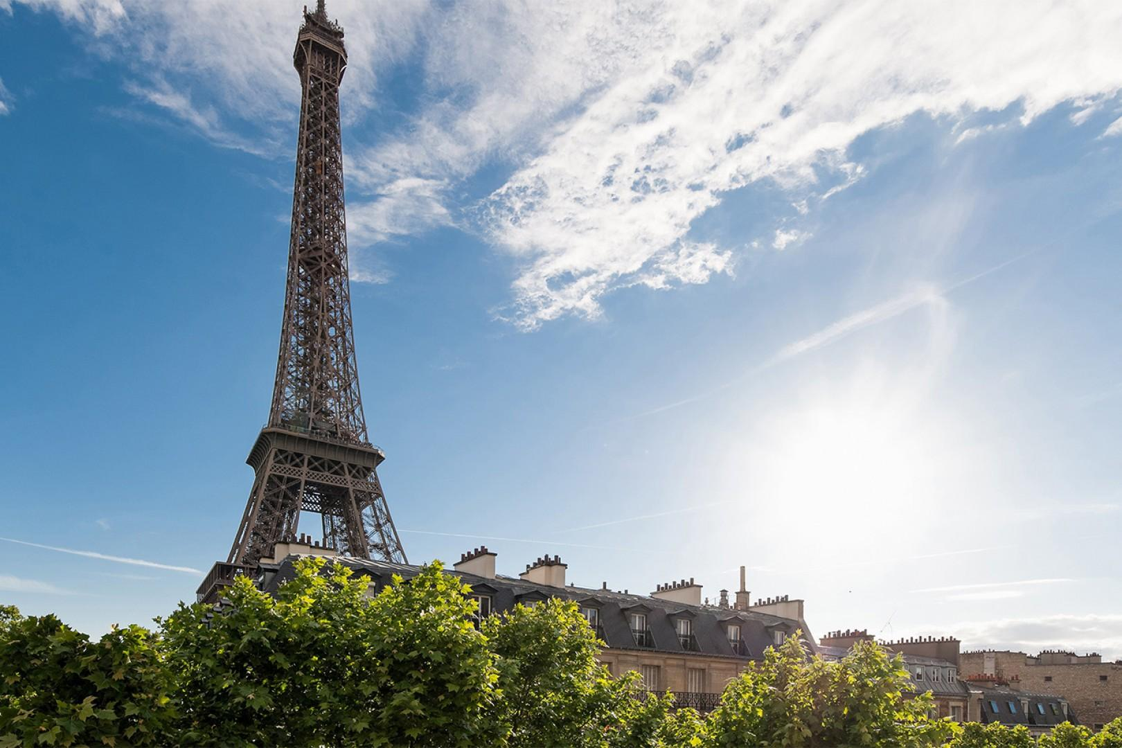 Take a short stroll to the Eiffel Tower for a close-up.