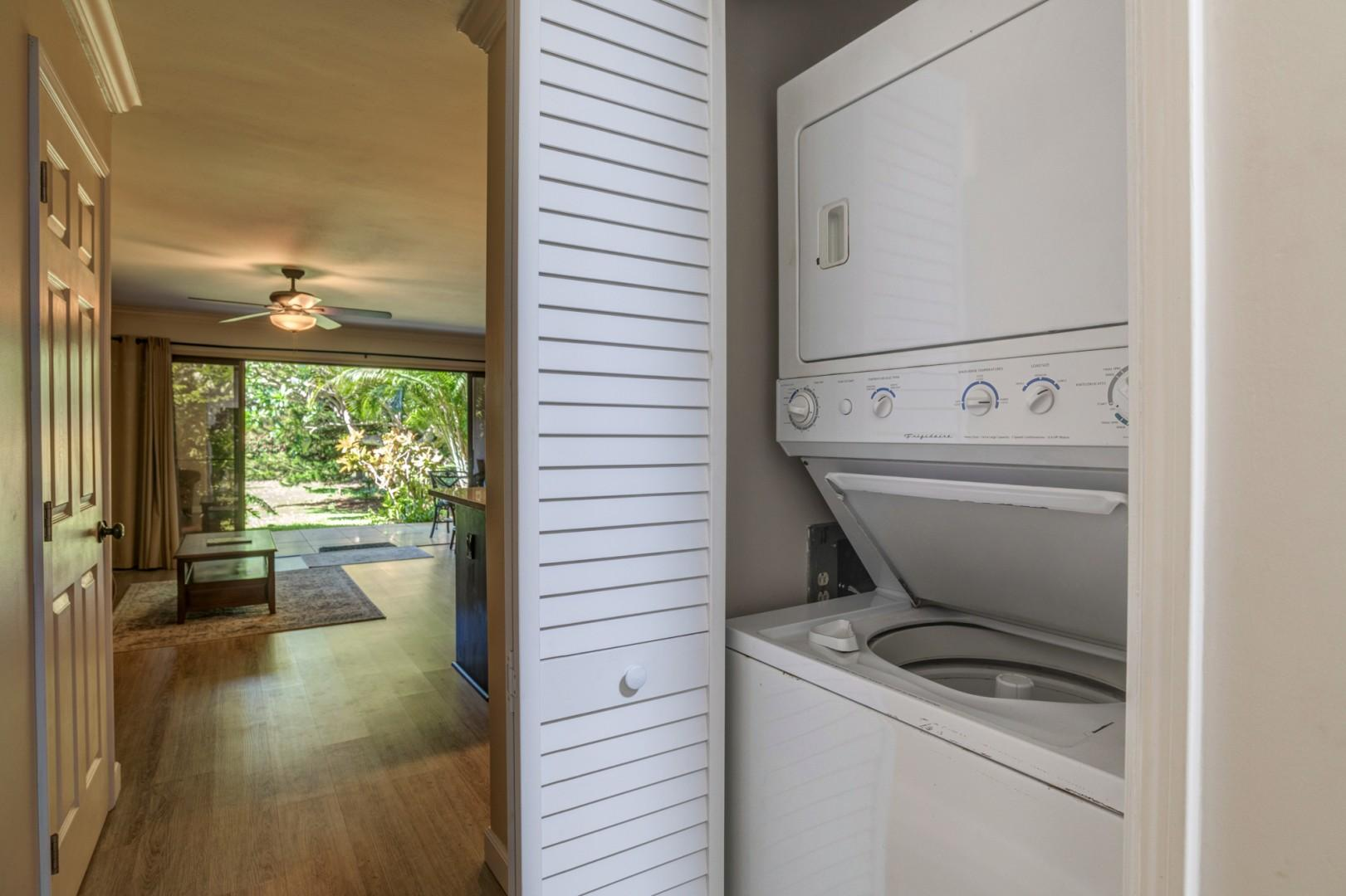 Washer & Dryer inside the unit