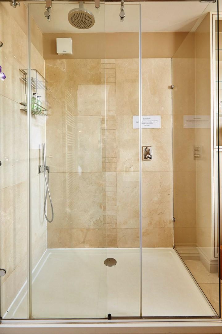 Large walk in shower