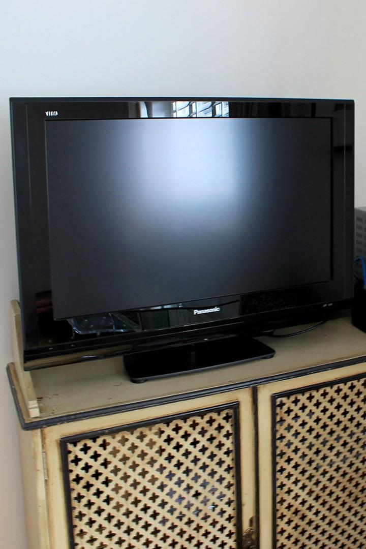 Flat screen TV in the living room