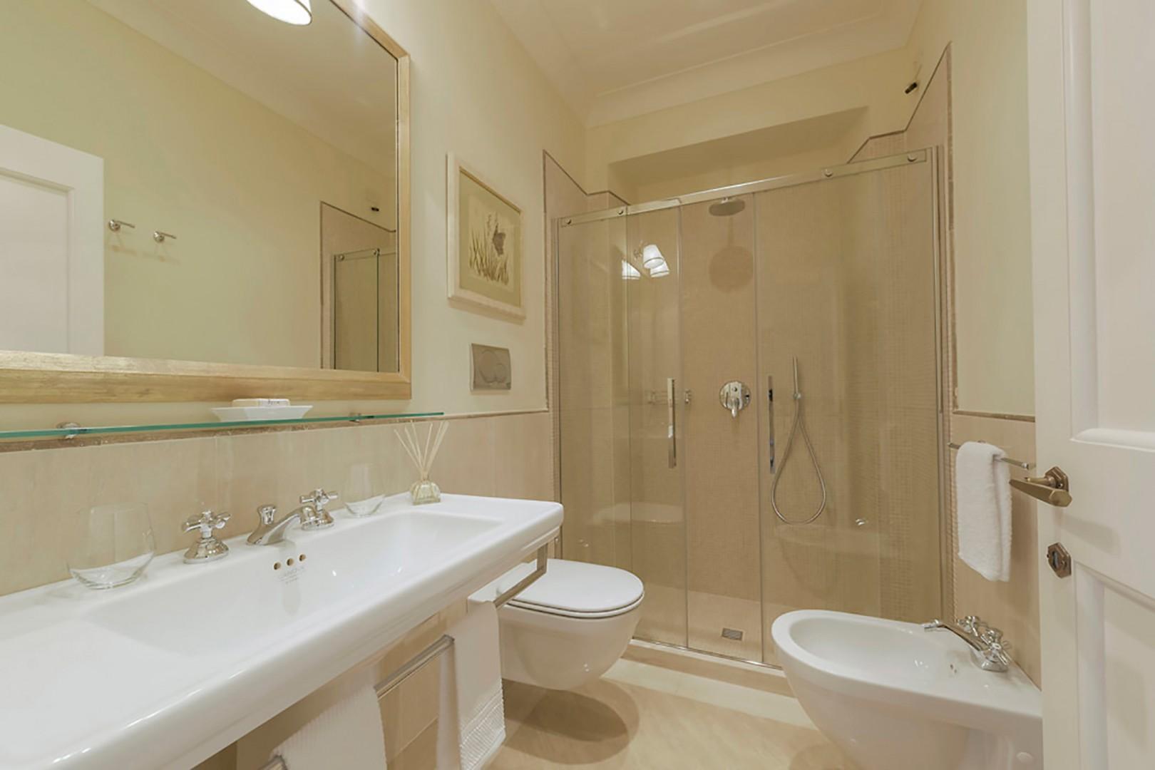En suite bathroom 3 with large shower step-in shower.