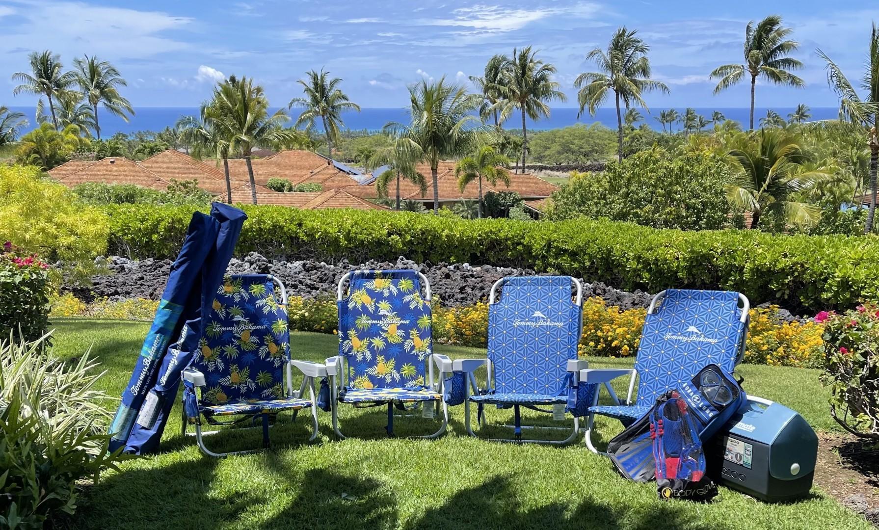 Beach amenities - subject to change.