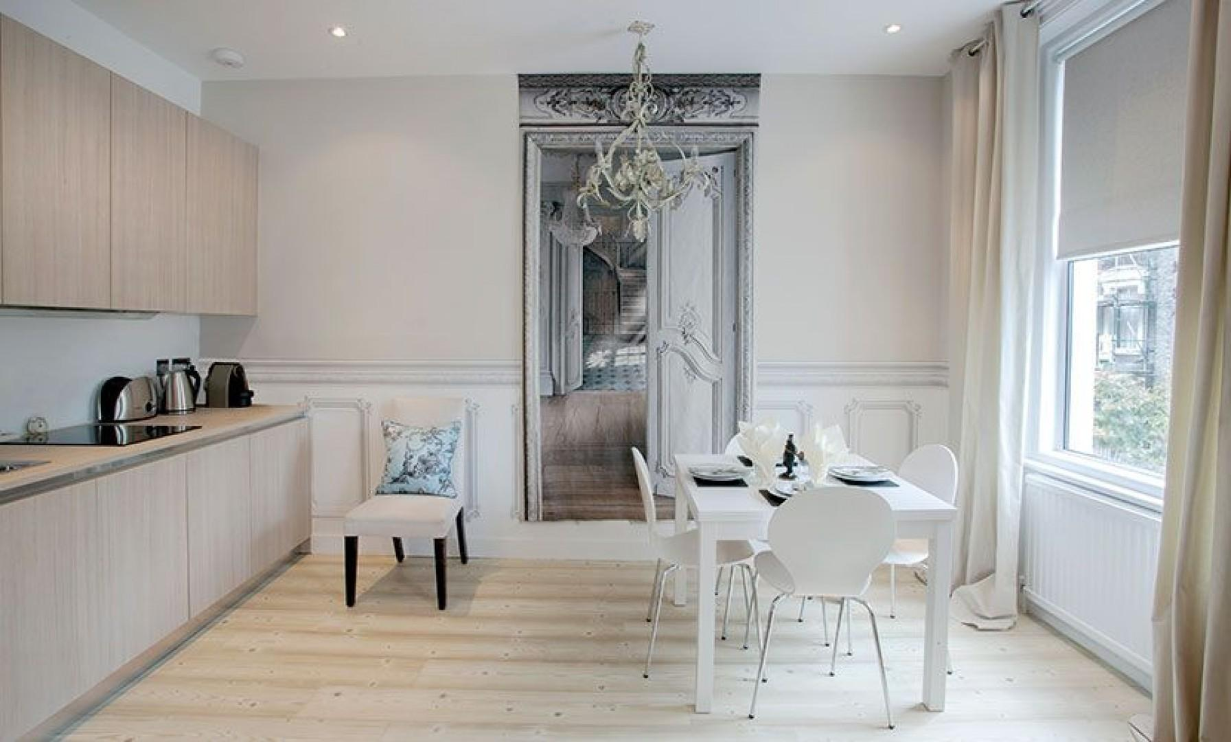 Lovely kitchen and dining area in the Addington apartment