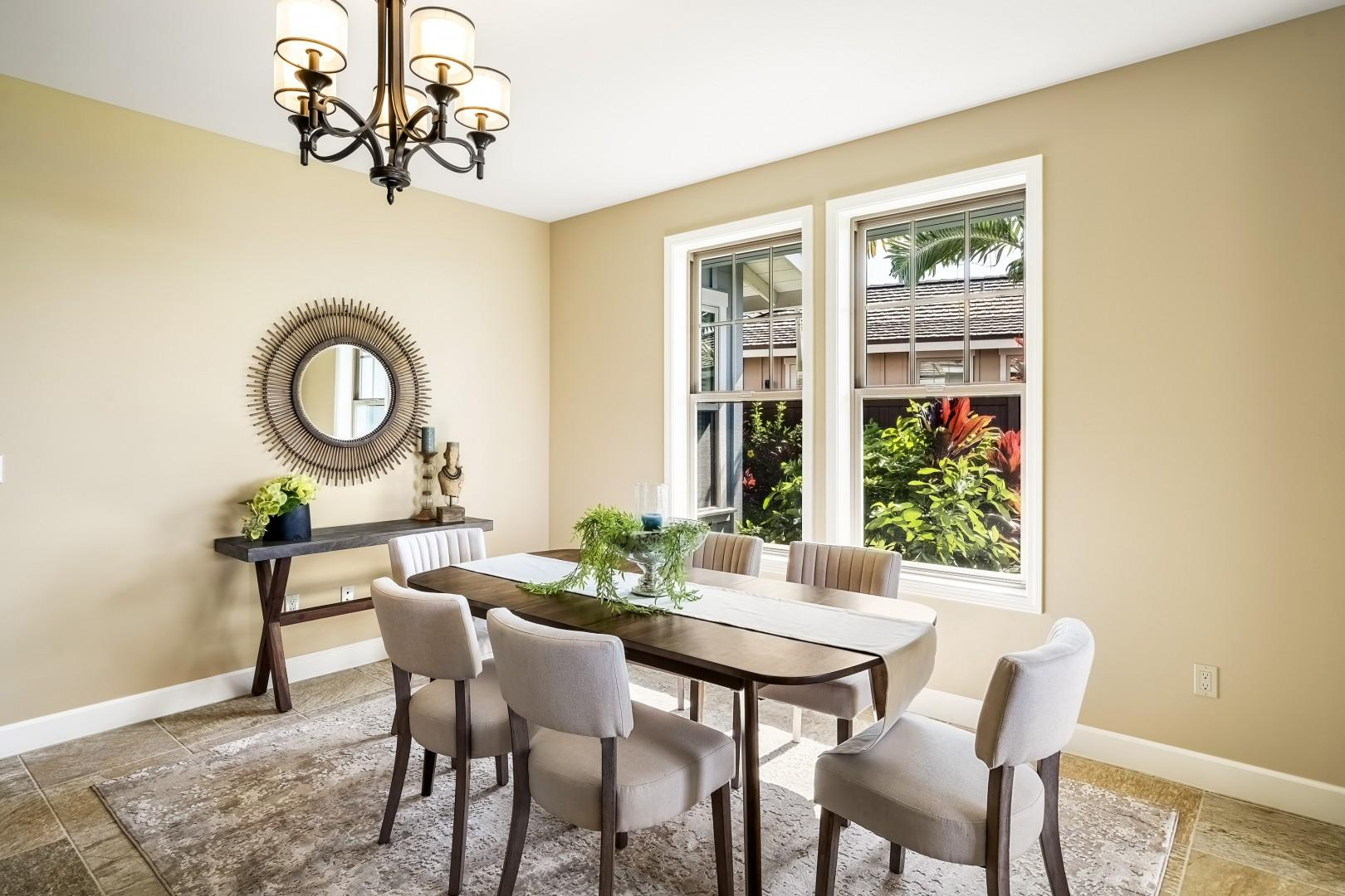 Indoor dining for 6 guests!