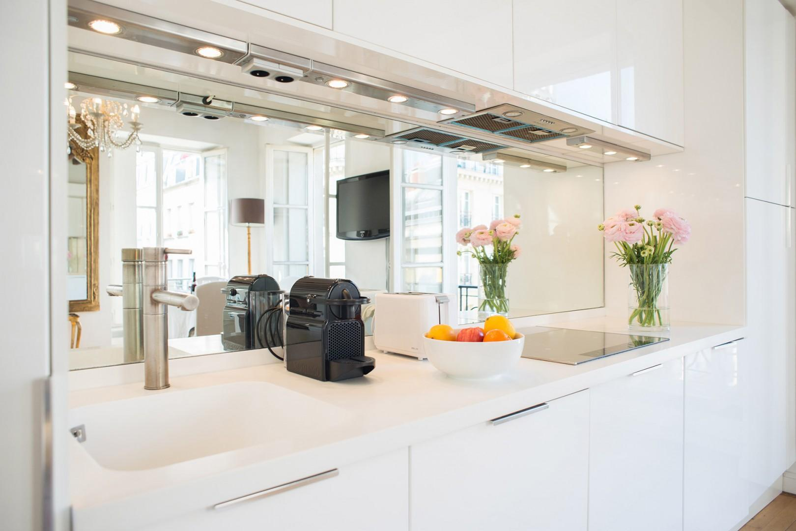 The fully-equipped kitchen has everything for your culinary needs.