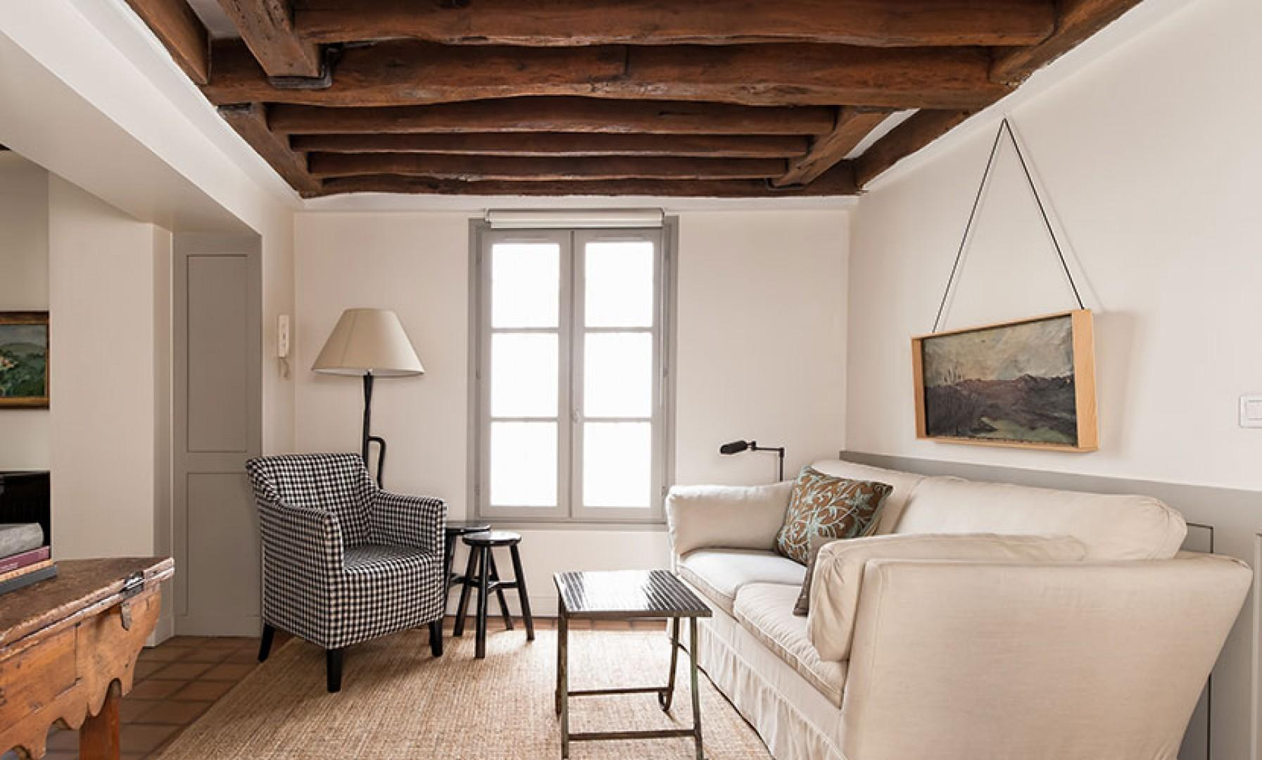 You will love the wooden ceiling beams that add original charm.