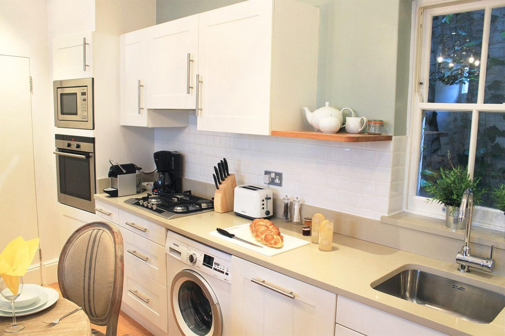 Fully equipped kitchen is perfect for cooking meals at home