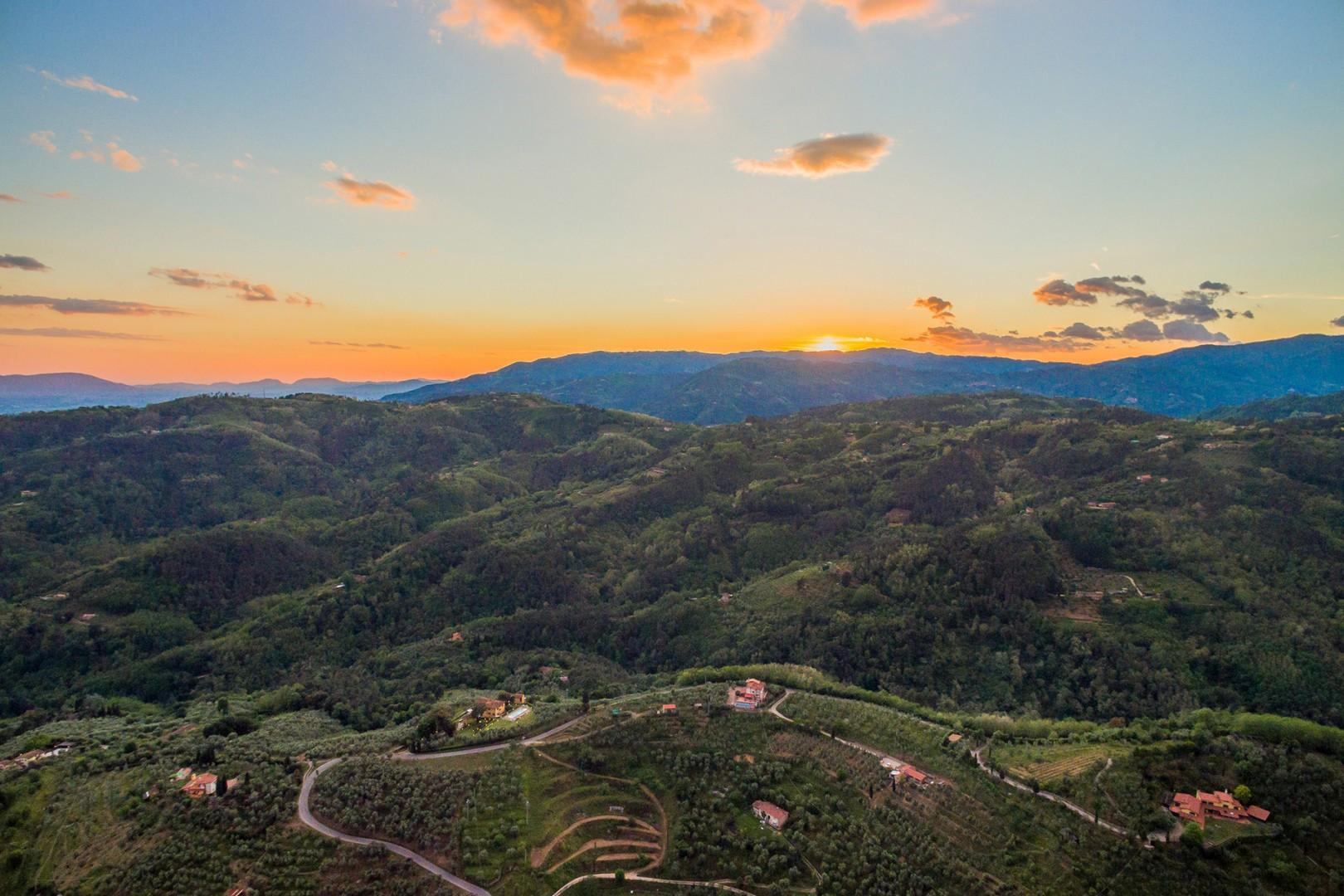 Breathtaking views overlooking the Tuscan countryside.