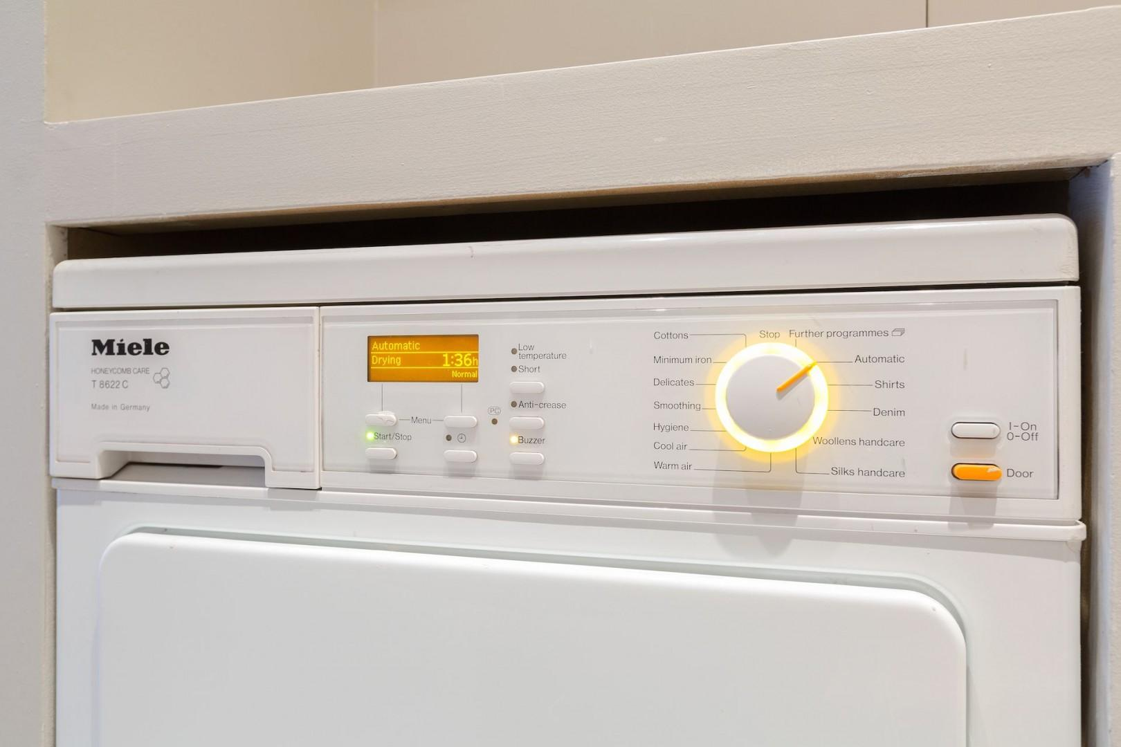 A washing machine makes longer stays more comfortable