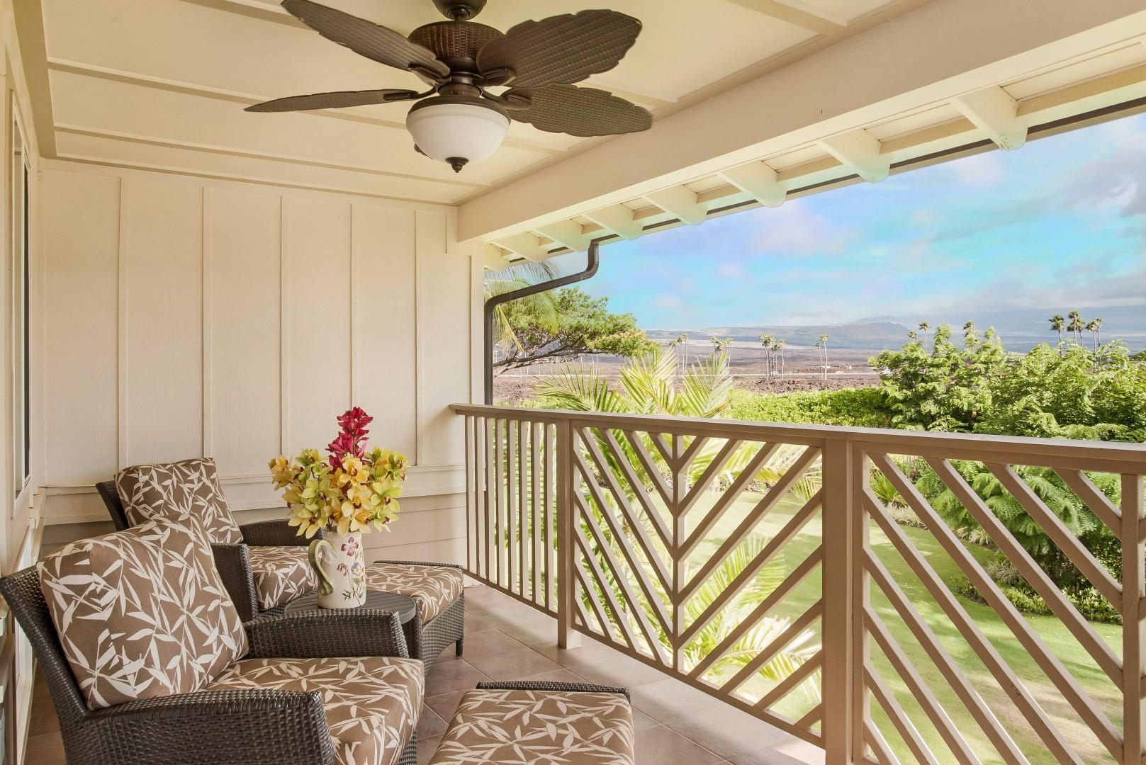 Tranquil Lanai Off Master Bedroom w/ Stunning Garden & Mountain Views