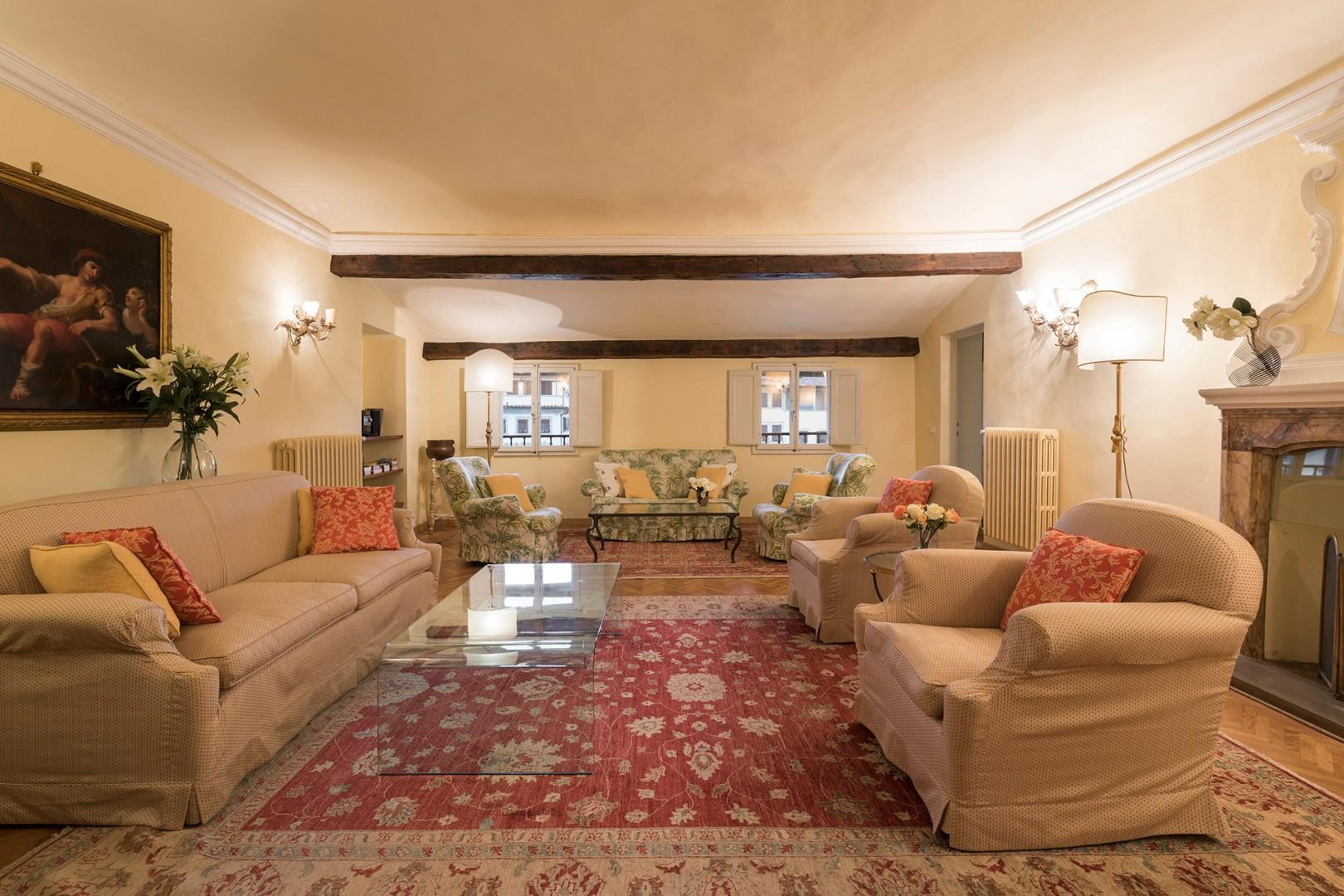 The large living room is great for a large family or group of friends.