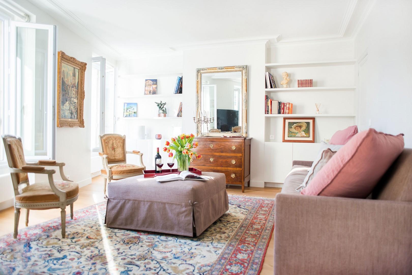 Welcome to the elegant Saint-Bris Paris rental!
