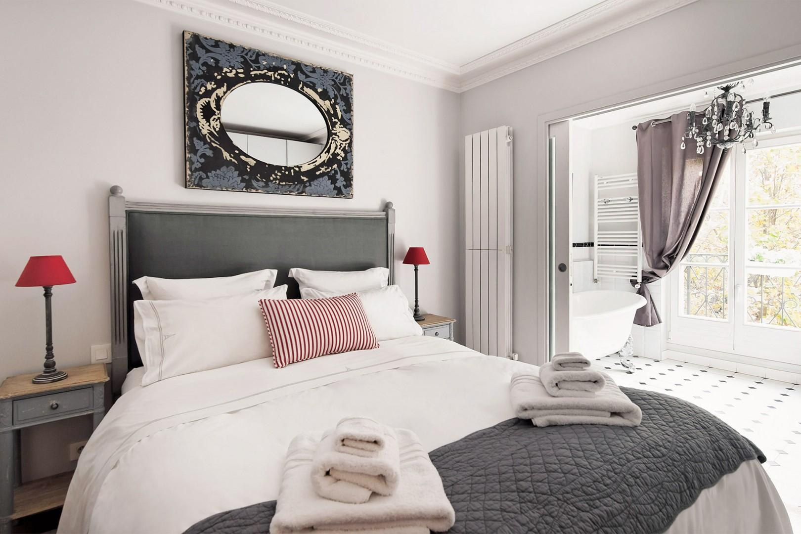 This bedroom has the most amazing en suite bathroom!