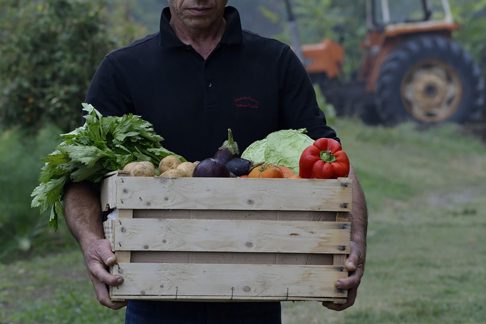 The restaurant serves local products and produce from their own garden.