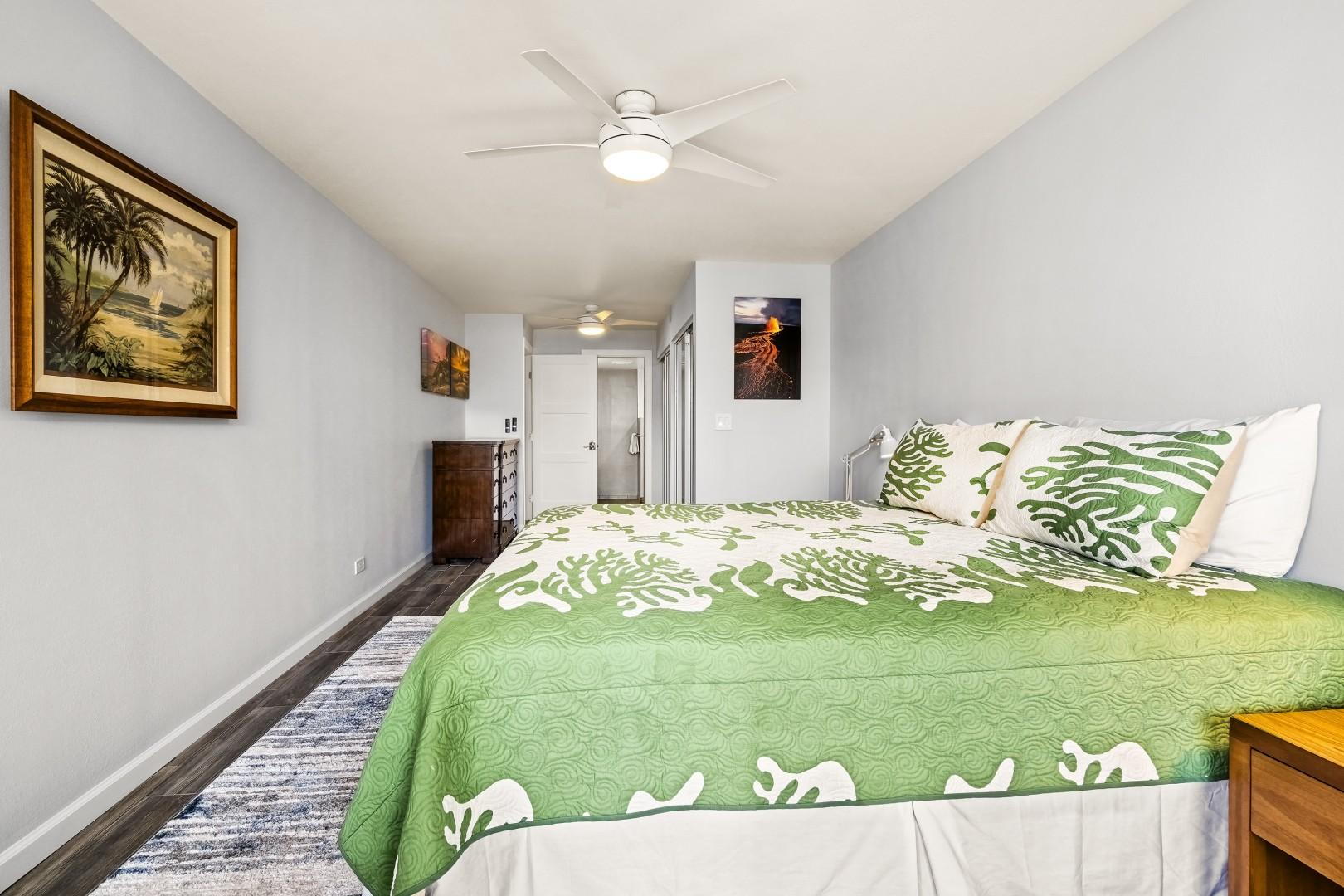 Expansive bedroom with ensuite