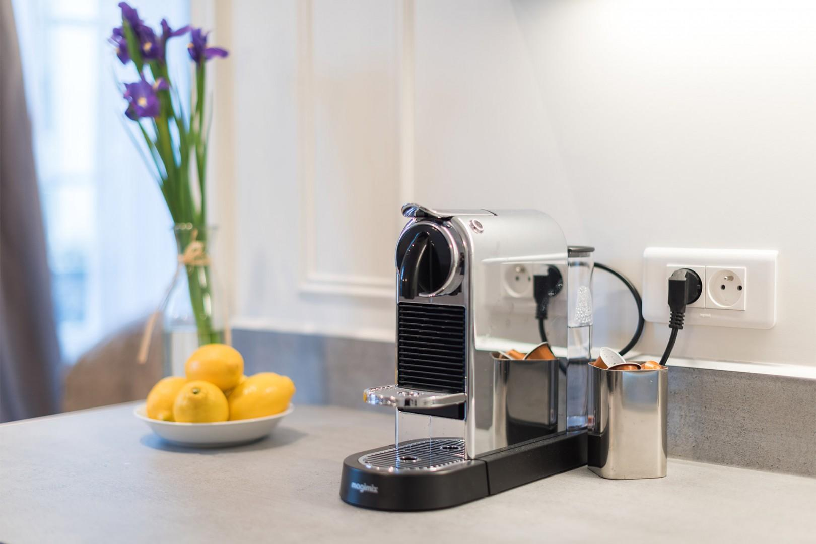 Nespresso machine for your morning coffee