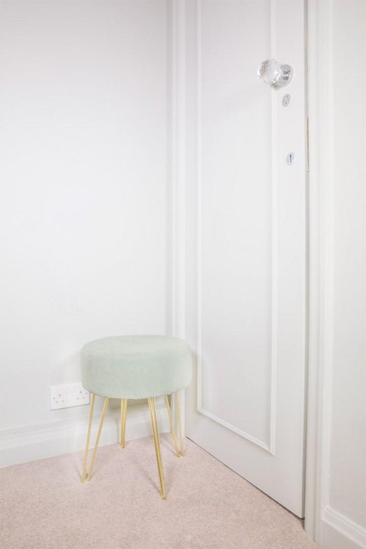 Modern stool in the bedroom