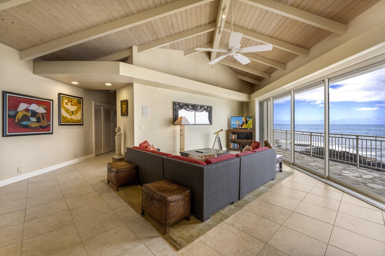 Whether you prefer to watch TV or take in the views the choice is yours!