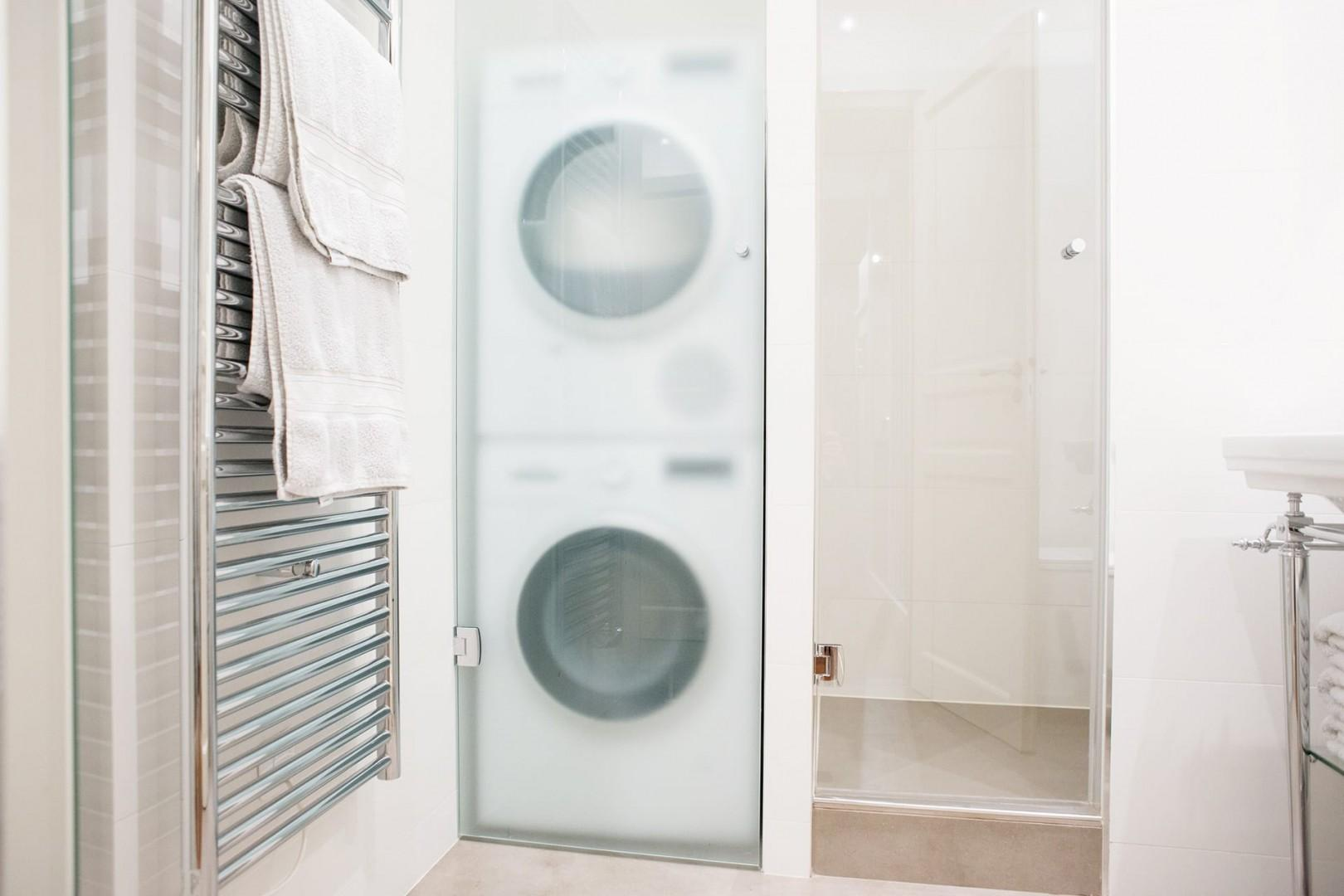 Grab a fluffy towel from the heated towel rack!