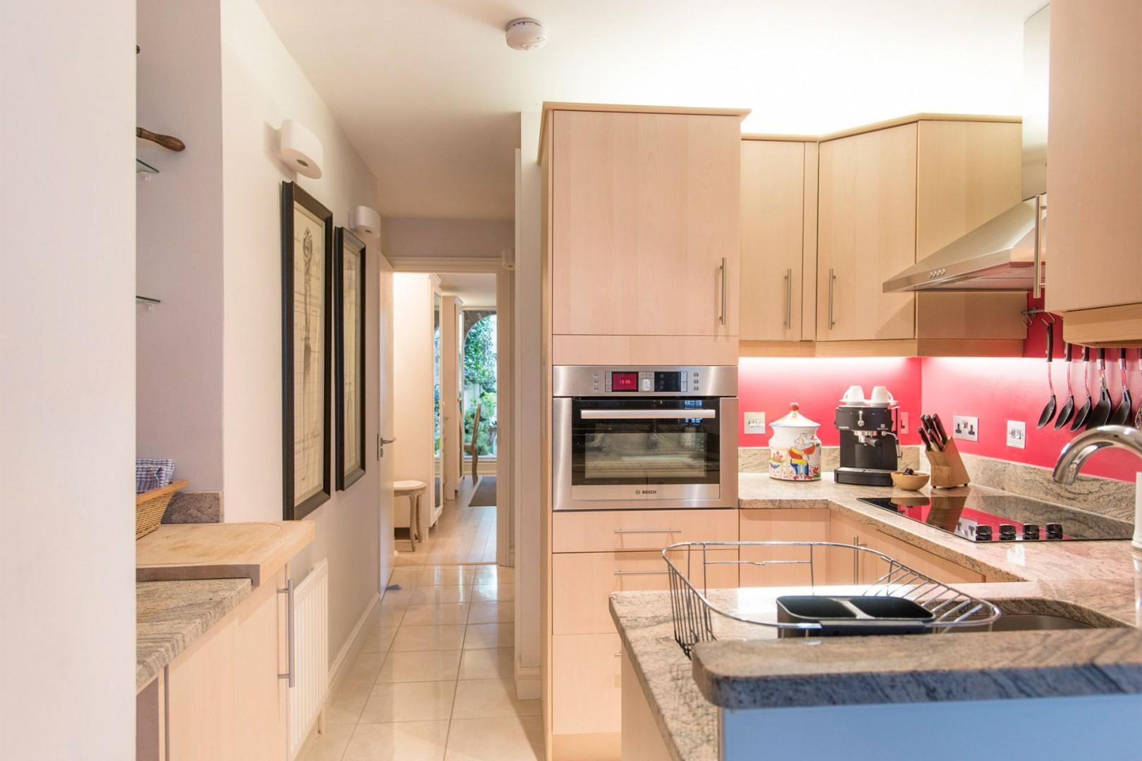 The fully equipped kitchen has every appliance you need
