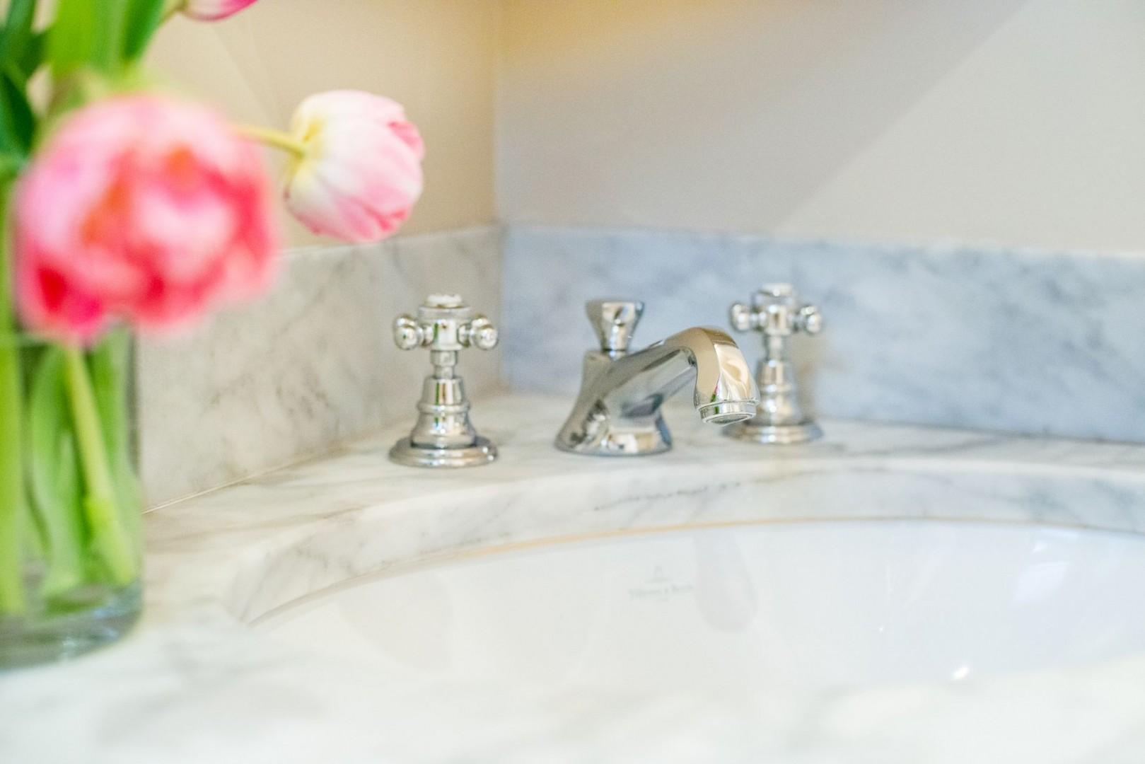 Enjoy the high-end finishes throughout bathroom 2.