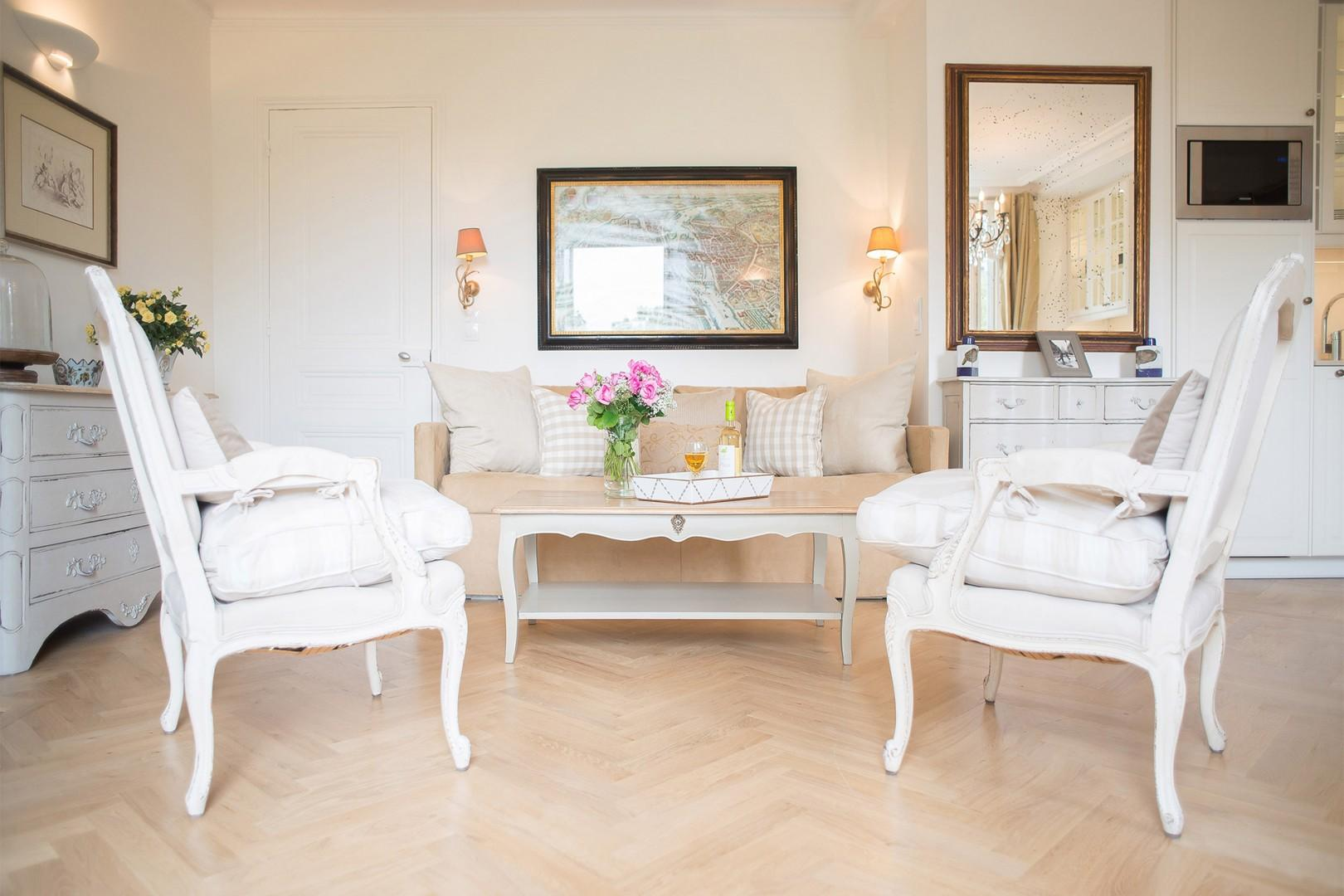 Relax after a long day of exploring Paris in your very own stylish apartment.