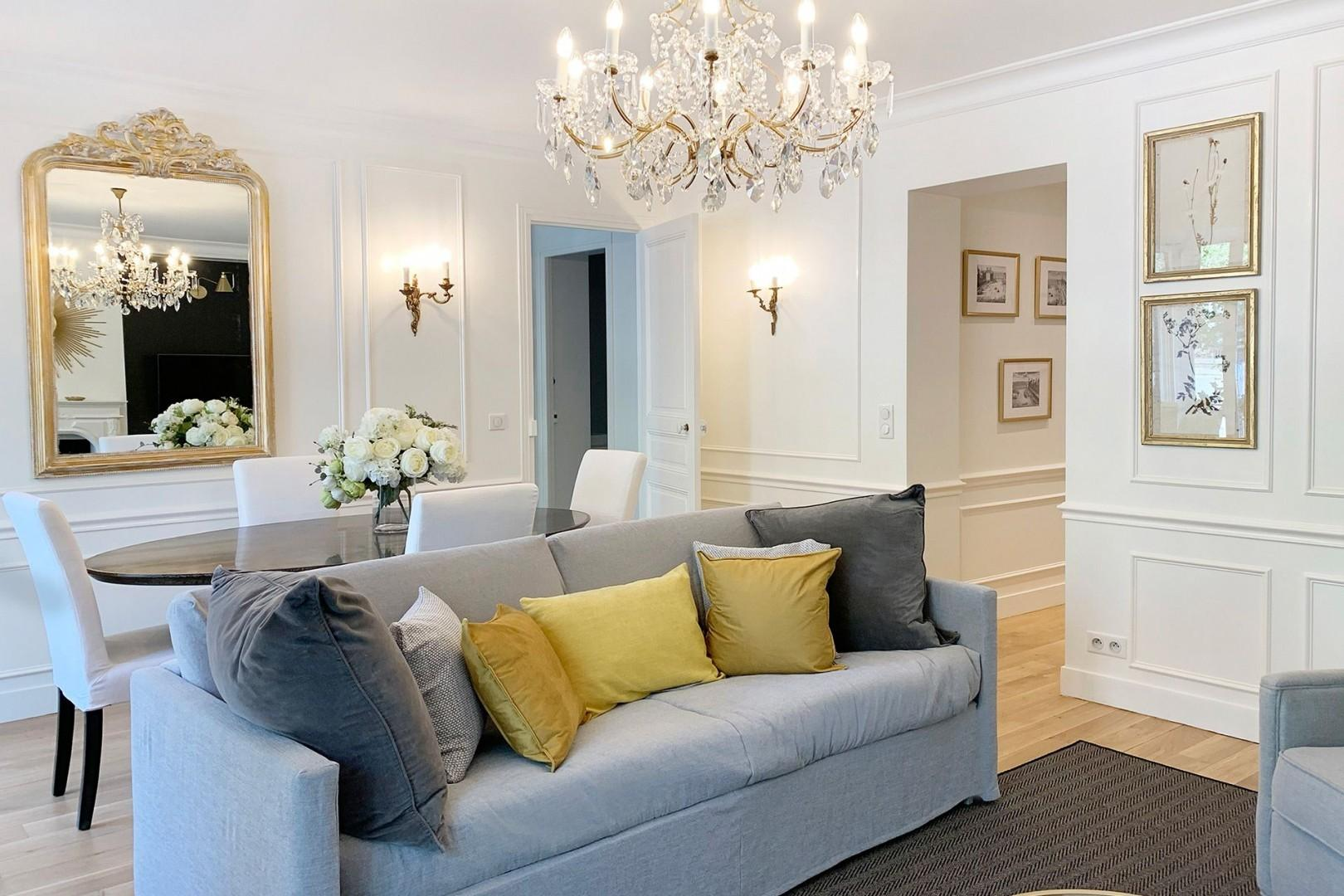 The sofa converts into two comfortable beds providing extra sleeping space for additional guests.